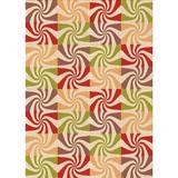 East Urban Home Abstract Area Rug Polyester/Wool in Orange, Size 72.0 H x 48.0 W x 0.35 D in   Wayfair A8A1A4C8A42A434586BC5620DA1EA593