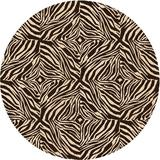 East Urban Home Rives Animal Print Brown Area Rug Polyester/Wool in White, Size 36.0 H x 36.0 W x 0.35 D in   Wayfair