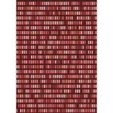 East Urban Home Striped Red Area Rug Polyester/Wool in White, Size 36.0 H x 36.0 W x 0.35 D in   Wayfair CA3452D45113410AA571AC9D3A21251B