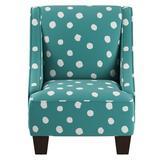 Harriet Bee Frahm Swoop Arm Chair Upholstered in Blue, Size 22.0 H x 18.0 W x 18.0 D in | Wayfair C143A5ECD7754A7BA853760EEDEEDBD0