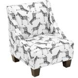 Isabelle & Max™ Sparks Swoop Arm Chair Upholstered in Brown/Gray/White, Size 22.0 H x 18.0 W x 18.0 D in | Wayfair 44E31D02990E4E63881CBDC5636B0975