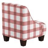Harriet Bee Foxx Swoop Arm Chair Upholstered in Pink, Size 22.0 H x 18.0 W x 18.0 D in | Wayfair D01AC34927A14AF88DB17BBC425D5F51