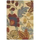World Menagerie Arber Floral Handmade Tufted Wool Multicolor Area Rug Wool in White, Size 36.0 H x 24.0 W x 0.63 D in | Wayfair JAR952A-2