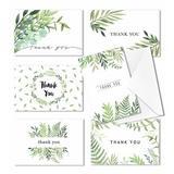Cavepop Foliage Thank You Cards - Set Of 36 in Green, Size 6.0 H x 4.0 W x 0.05 D in   Wayfair HCS-TKCDLF-WT