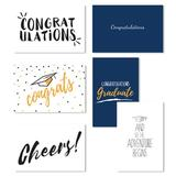 Cavepop Graduation Cards - Set Of 36 in Blue, Size 6.0 H x 4.0 W x 0.05 D in | Wayfair HCS-GCGTCD-WT