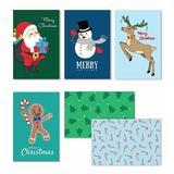 Cavepop Merry Christmas Cards - Set Of 36 in Green, Size 6.0 H x 4.0 W x 0.05 D in   Wayfair HCS-CTMSCD-WT