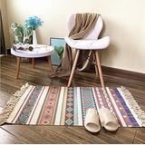 "Ukeler Boho Kitchen Rugs Decorative Bohemian Kilim Rug Cotton Hand Woven Area Rugs for Laundry, Bathroom, Bedroom, Doorway, 23.6"" x 51.2"""