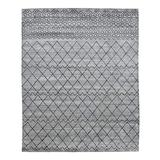 Solo Rugs Contemporary Hand Loomed Area Rug, 9 x 12, Light Gray