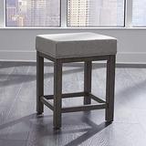 Liberty Furniture Industries Tanners Creek Uph Seat Bar Stool (3 Piece Set), W19 x D16 x H25, Medium Gray