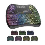 Backlit Mini Wireless Keyboard with Touchpad and Mouse, 2.4GHz Rechargeable, Remote Control with QWERTY Keypad for Android TV Box, iPTV, Xbox, TV, Projector, Raspberry pi, USB Devices, etc
