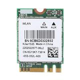 Zopsc Gaming Wireless Network Card, for Killer Wireless-AC 1535 Dual Band (2.4 GHz and 5 GHz) 802.11ac NGFF M.2 867Mbps Bluetooth 4.1 Network Card