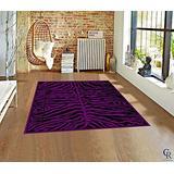 Zebra Print Rug Contemporary Area Rugs Zebra Rugs Large Zebra Rugs for Living Room Animal Print Rug (2 Feet X 7 Feet Runner)