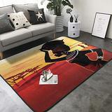 "KasaBlaro Beautiful African Print Area Rug Carpet Contemporary Rugs Living Room Dining Area Rugs Room Rugs Office Rugs Modern Rug 80"" X 58"""