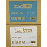 "Prep Wipe Lint Free Cleaning Towels Pack of 100 Sheets 9"" x 17"" (BLUE)"