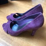 Nine West Shoes | Nine West Jacero Suede Peep Toe Shoe | Color: Purple | Size: 9.5