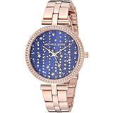 Michael Kors Women's Maci Quartz Watch with Stainless Steel Strap, Rose Gold, 13 (Model: MK4451)