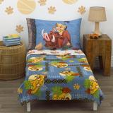 Disney Lion King - Totally Tribal 4 Piece Toddler Bedding Set Polyester in Blue   Wayfair 6385380
