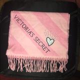 Victoria's Secret Accessories | 2for$18nwot Victoria Secret Scarf | Color: Black/Pink/Red | Size: 208 Cm X 30.5 Cm