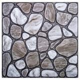 "Truu Design 12"" x 12"" PVC Peel & Stick Mosaic Tile Vinyl/PVC in Gray, Size 0.01 D in | Wayfair 10777DC-6"