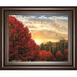 """22 in. x 26 in. """"Crimson Tress"""" By Celebrate Life Gallery Framed Print Wall Art - Classy Art 8659"""