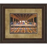 """34 in. x 40 in. """"Last Supper"""" (African American) Framed Print Wall Art - Classy Art DM5288"""