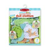 """""""Melissa & Doug Mine to Love Mix & Match 6-Piece Playtime Doll Clothes for 12""""""""-18"""""""" Unisex Dolls, Multicolor"""""""