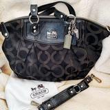 Coach Bags | Authentic Coach Madison Op Art Claire Satchel | Color: Black/Silver | Size: (L) 12 X (H) 12 X (W) 4 Inches