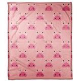 Zoomie Kids Marko Pig Face Friend Throw Polyester in Pink, Size 60.0 H x 50.0 W in | Wayfair 72959B94BC874EE58950B34F9BC93C74