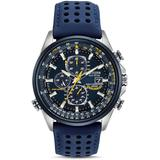 Eco-drive Blue Angels World Chronograph Atomic Timekeeping Watch With Day/date, At8020-03l - Blue - Citizen Watches