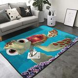 "KasaBlaro Finding Nemo Sea Turtles Print Area Rug Carpet Contemporary Rugs Living Room Dining Area Rugs Room Rugs Office Rugs Modern Rug 80"" X 58"""
