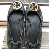 Tory Burch Shoes | Tory Burch Reva Flats | Color: Black/Gold | Size: 7.5