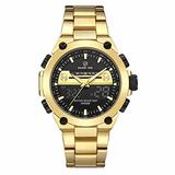 [Watches for Men ] GOLDENHOUR 115 Mens Watch - Casual Japanese Quartz Watch - Business Fashion Luxury - Digital Quartz Dual Time Display Wrist Watches (01)