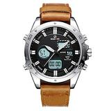 [Watches for Men ] GOLDENHOUR 117 Mens Watch - Business Fashion Luxury - Casual Japanese Quartz Watches- Digital Quartz Dual Time Display Wrist Watches (02)