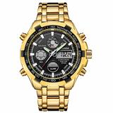 [Watches for Men ] GOLDENHOUR 108 Mens Watch - Casual Japanese Quartz Watches- Business Fashion Luxury - Digital Quartz Dual Time Display Wrist Watch (05)