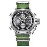[Watches for Men ] GOLDENHOUR 103 Mens Watch - Casual Japanese Quartz Watches - Business Fashion Luxury - Digital Quartz Dual Time Display Watch (02)