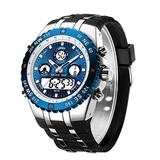 [Watches for Men ] GOLDENHOUR 124 Mens Watch - Casual Japanese Quartz Watches for Men - Business Fashion Luxury - Digital Quartz Dual Time Display Watches (04)