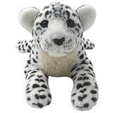 TAGLN Realistic Plush Stuffed Animals Toys Cheetah Tiger Panther Lion Pillows (White Leopard, 24 Inch)