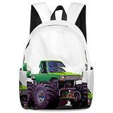 Stylish Elementary Student School Bag Cartoon Monster Truck Car Durable School Backpacks Outdoor Daypack Travel Packback for Kids Boys Girls