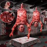 """37"""" Animated Halloween Prop Half Body Skinned Hanging Corpse Torso Haunted House Party Indoor Outdoor Decoration.Half body skinned hanging corpse prop, realistic and lifelike looking US Delivery"""