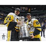 """""""Sidney Crosby & Evgeni Malkin Pittsburgh Penguins Unsigned 2017 Stanley Cup Champions Raising Photograph"""""""