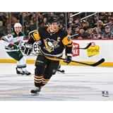 """""""Sidney Crosby Pittsburgh Penguins Unsigned Black Jersey Skating Photograph"""""""
