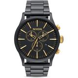 Sentry Chrono Watch - Black - Nixon Watches