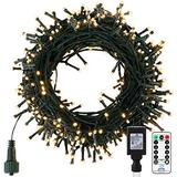 Outdoor Christmas String Lights - 66FT 200 LED Twinkle Fairy Lights String with 8 Light Modes for Christmas Trees Garland Wreath Wedding Indoor Outdoor Holiday Decorations with Warm White