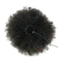 Urembo Platinum Drawstring Ponytail - 100% Brazilian Virgin Remy Human Hair Afro Kinky Curly Echthaar, Farbe: Natural (Dunkelbraun ungefärbt), Länge: 30cm (12 Inch) - 100 gr.
