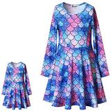 Matching Girl & Doll Dresses Mermaid Clothes for Big Girls Blue 12 13