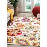 Safavieh Ivory/Multi Monaco Colorful Floral Area Rug Collection