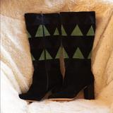 Anthropologie Shoes   Anthropologie Knee High Boots   Color: Black/Blue   Size: 9