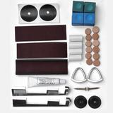 Hathaway Games Cue Stick Repair Kit Pool Table Covers & Accessories Leather, Size 6.3 H x 6.0 W in | Wayfair BG50345