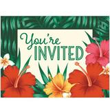 Creative Converting Tropical Flowers Invitation Heavy Duty Paper in Green/Yellow | Wayfair DTC343275INV