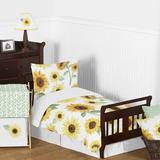 Sweet Jojo Designs Sunflower Collection 5 Piece Toddler Bedding Set Polyester in Brown/Green/Yellow | Wayfair Sunflower-Tod